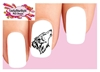 Wolf Howling Set of 20 Waterslide Nail Decals