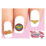 Wonder Woman Assorted Set of 20 Waterslide Nail Decals