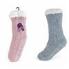Ladies Sherpa Lined Chenille Knitted Slipper Socks