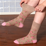3 Pairs of Ladies Gentle Grip Socks 4-8