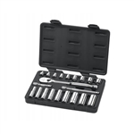 GearWrench 80557 21pc. 3/8 in. Drive 6 & 12 Point Standard and Deep SAE Mechanics Tool Set