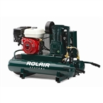 Rolair 6590HK18 6.5 HP 9 Gallon Twin Tank Wheelbarrow Gas Compressor