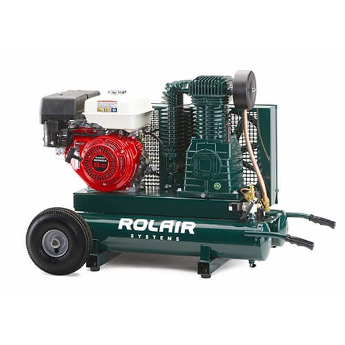 Rolair 8422HK30 9 HP 9 Gal Gas Powered Honda Compressor on Wheels