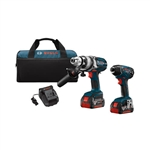 Bosch CLPK222-181 18V Hammer Drill/Driver and Hex Impact Driver Combo Kit