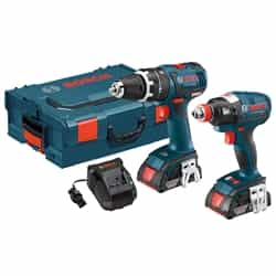 Bosch CLPK250-181L 18V 2-Tool EC Brushless L-Boxx Kit - Compact Tough Hammer, Socket Ready Impact