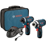Bosch CLPK27-120 12V Max 2 Tool Combo Kit with Two-Speed Pocket Driver and Impact Driver