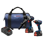 Bosch GXL18V-225B24 18V 2 Tool Combo Kit with Brute Touch 1/2 in. Hammer Drill/Driver and Two-in-One Bit/Socket Impact Driver