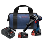 Bosch HDH183-B24 18V EC Brushless Brute Tough 1/2 In. Hammer Drill/Driver Kit with 2 CORE18V 6.3 Ah Batteries