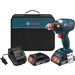 Bosch Tools IDH182-02 18V Brushless Socket Ready Impact Driver w/ (2) SlimPack Batteries (2.0Ah)