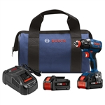 Bosch IDH182-B24 18 V EC Brushless 1/4 In. and 1/2 In. Socket-Ready Impact Driver Kit with 2 CORE18V Batteries