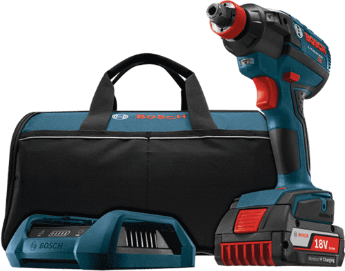 Bosch IDH182WC-102 18V EC Brushless 1/4 In. and 1/2 In. Socket-Ready Impact Driver Wireless Charging Kit