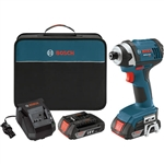 Bosch IDS181-02 18V 1/4 in. Hex Compact Tough Impact Driver with 2 SlimPack Batteries