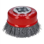 Bosch WBX318 3 in. Wheel Dia. X-LOCK Arbor Carbon Steel Crimped Wire Cup Brush