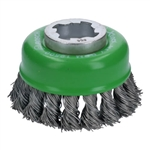 Bosch WBX329 X-Lock 3 in. Cup Brush, Knotted, Stainless Steel