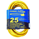 CEP 1202 12/3 x 25 Foot SJTW UG Yellow Extension Cord
