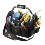 CLC L234 TechGear LED Lit 22 Pocket Open Top Tool Bag
