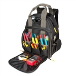 CLC L255 Lighted Tool Backpag Tech Gear Bag - 53 Pockets