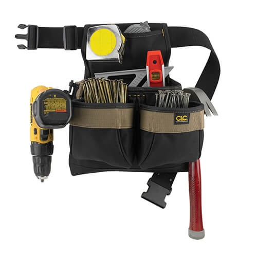 CLC 5 Pocket Poly Framer's Nail & Tool Bag with Poly Web Belt