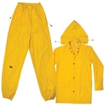CLC Yellow Polyester 3 Piece Suit - L