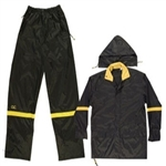 CLC Black 3 Piece Nylon Rain Suit - M