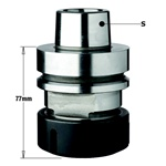 "CMT 183.310.01 Chuck with ""ER40"" Precision Collet, HSK-F63 Shank, Right-Hand Rotation"