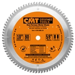 CMT 254.080.10 ITK Industrial Non-Ferrous Metal & Melamine Blade, 10-Inch Diameter X 80 Teeth with 5/8-Inch Bore, PTFE-Coated