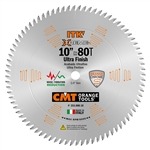 CMT 255.080.10 ITK Industrial Fine Finish Saw Blade, 10-Inch x 80 Teeth 40º ATB Grind with 5/8-Inch Bore
