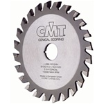 CMT 288.125.24K Industrial Conical Scoring Blade, 125mm (4-59/64-Inch) X 20 Teeth Conical + 5º ATB Teeth with 22mm Bore