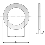 CMT 299.213.00 Reduction Ring for Saw Blades, 1-Inch Diameter X 3/4-Inch Bore