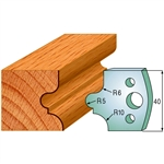 CMT 690.012 Pair of Profiled Knives for Shaper Cutters, 1-37/64-Inch Cutting Length, 5/32-Inch Thickness