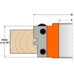CMT 695.009.01 Pair of Profiled Knives for Reverse Glue Joint Cutter Head, 1-37/64-Inch Cutting Length