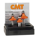 CMT 838.501.11 3-Piece Roundover Bit Set, 1/2-Inch Shank, Carbide-Tipped