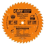 CMT P10042W General Purpose Saw Blade 10-1/4 in. x 42 Teeth 10 Degree ATB/Shear with 5/8 in. Bore