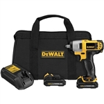 "Dewalt DCF813S2 12V Lithium Ion 3/8"" Impact Wrench Kit"