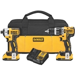 Dewalt DCK287D2 20V MAX* XR Lithium Ion Brushless Compact Hammerdrill & Impact Driver Combo Kit