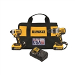 DeWalt DCK299P2LR 20V MAX XR Hammer Drill / Impact Driver Combo Kit with Lanyard Ready Attachment Points