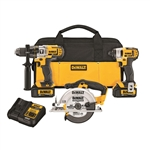 DeWalt DCK390L2 20V MAX Cordless Lithium-Ion 1/4 Inch Impact Driver, 1/2 Inch Hammerdrill Drill Driver, and a 6-1/2 Inch Circular Saw 3 Tool Combo kit