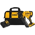 DeWalt DCN650D1 20V MAX XR 15 Gauge Cordless Angled Finish Nailer Kit
