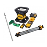 DeWalt DW079LGTR Tough Green Rotary Laser with Tripod and Rod