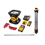 DeWalt DW079LRTR 20V MAX Tough Red Rotary Laser with Tripod and Rod