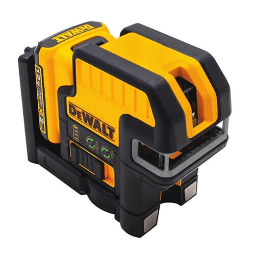 Dewalt DW0822LG 12-Volt Lithium Ion 2-Spot Cross-line Green Laser Level