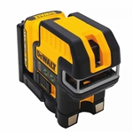Dewalt DW0822LR 12-Volt Lithium Ion 5-Spot Cross-line Laser Level