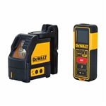 DeWalt DW0889CG Green Line Laser Level and 100 ft. Laser Distance Measurer