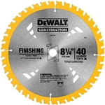 DeWalt DW3184 8-1/4 in. 40T Carbide Thin Kerf Saw Blade