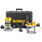 DeWalt DW618PK 2-1/4 HP (maximum motor HP) EVS Fixed Base / Plunge Router Combo Kit w/ Soft Start