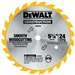 "Dewalt Dw9054 5-3/8"" 24T Woodcutting Cordless Saw Blade (3)"