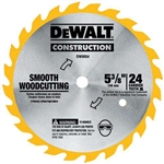 "Dewalt Dw9055 5-3/8"" 16T Woodcutting Cordless Saw Blade (5)"