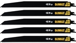 "Dewalt DWA41612 12"" 6Tpi 2X Reciprocating Blade 5Pk"