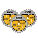 DeWalt DWAFV37243 FlexVolt 24T Circular Saw Blade 3 Pack, 7-1/4 in.