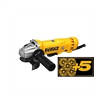 DeWalt DWE402W5 4-1/2 in. Small Angle Grinder with 5 Wheels